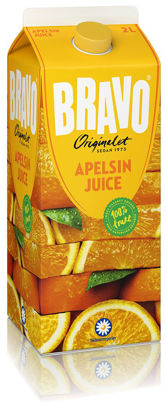 Picture of JUICE BRAVO APELSIN 6X2L   SKM