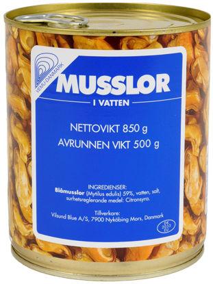 Picture of MUSSLOR I VATTEN 12X850G