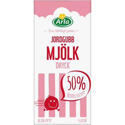 Picture of MJÖLKDRYCK JORDGUBB 12X1L ARLA