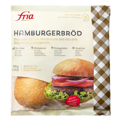 Picture of HAMBURGERBRÖD GLF  32X70G FRIA
