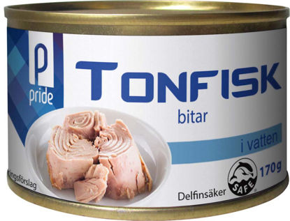 Picture of TONFISK I VATTEN BITAR 48X170G
